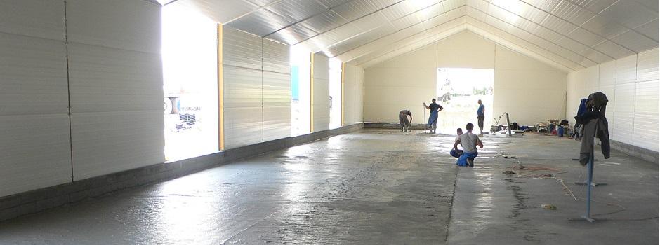 Ipari beton padlózat szálerősítéssel